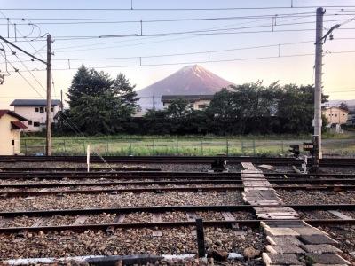 Fuji from Kawaguchiko station